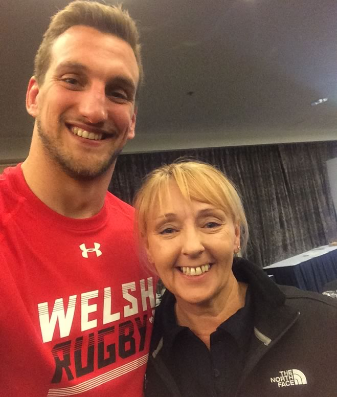 Victoria Mathers and Sam Warburton